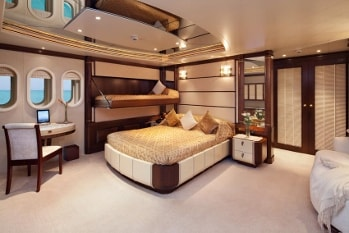2003 201' Solemar yacht VIP stateroom